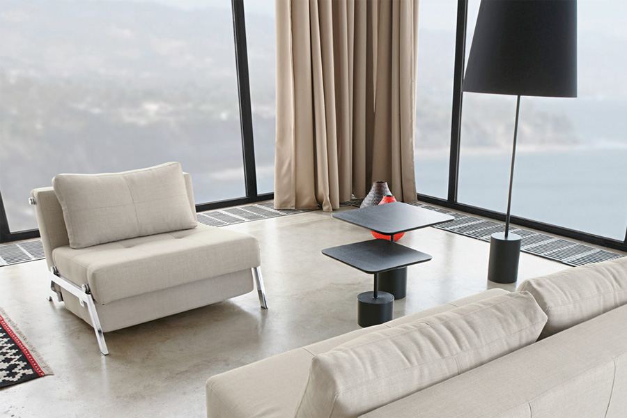 Smuk indretning med sovesofa-stol hos BoShop.