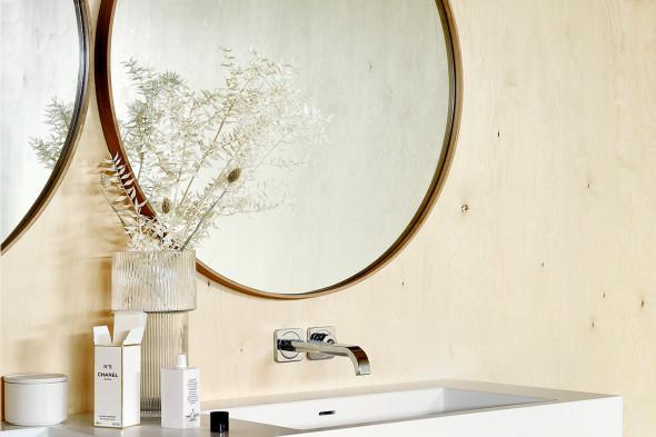 Billede af Layers vægspejl eg hos BoShop - Spejle i Århus.