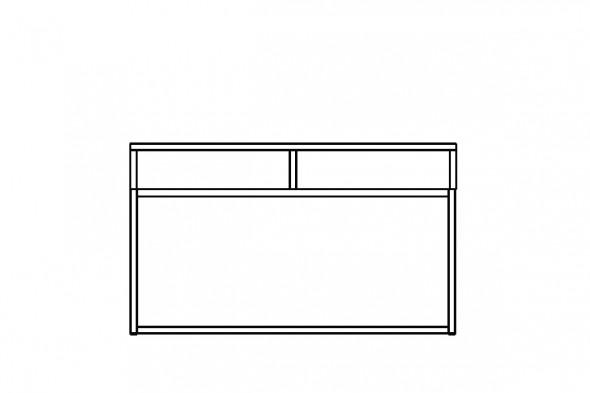Billede af konsolbord med åbne rum.
