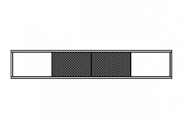 Billede af væghængt tv-bord.