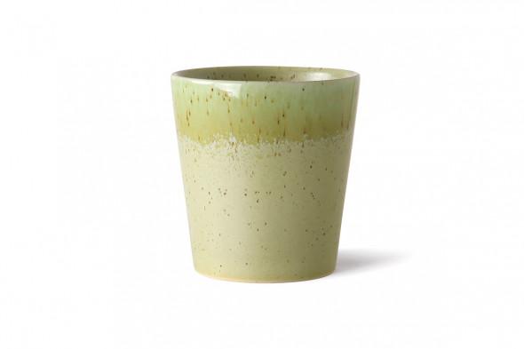 Billedet af et sæt med 4 kaffekopper. Bliv inspireret af 70'er keramikken hos BoShop i Aarhus og Aalborg.