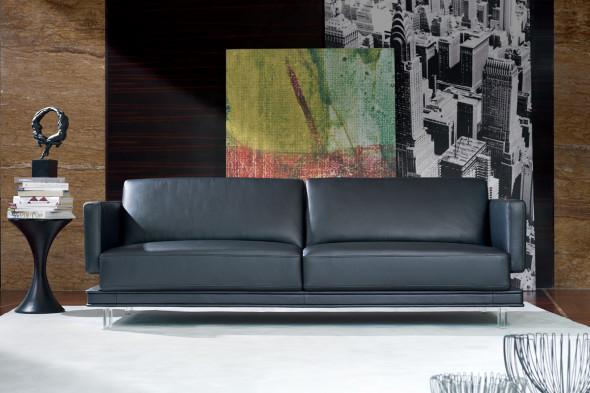 Billede af Triplo lædersofa hos BoShop.