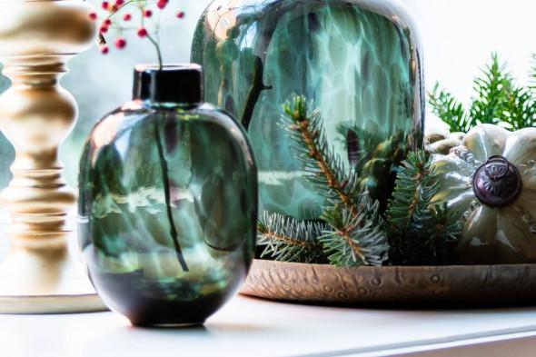 Billede af Dakar vase 12x18,5 grøn hos BoShop.