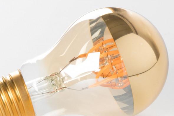 Billede af Classic Mirror Gold pære på 5 watt LED.  Find de matchende lamper hos BoShop.