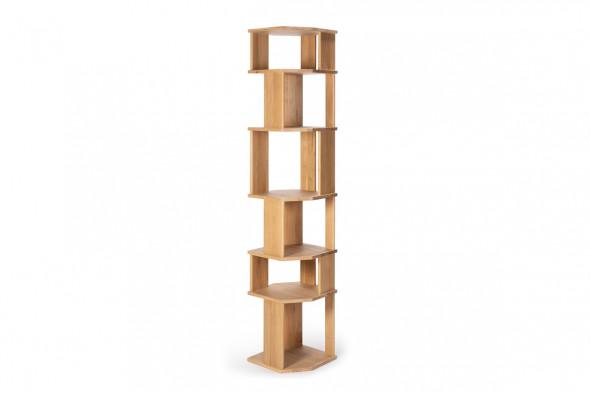 Billede af Stairs Rack Eg reol og rumdeler i træ hos BoShop.