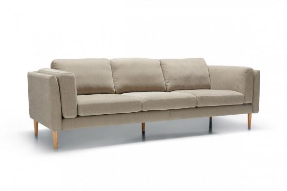 Billede af Sigge fløjl sofa - 3,5 personers - Beige *Kampagne* - Sofa i fløjl hos BoShop - Sofaer i Aarhus og Aalborg.