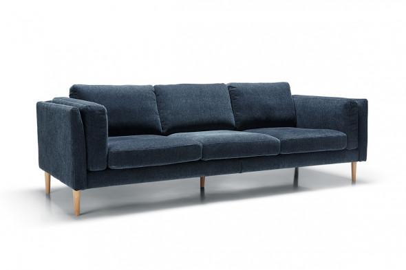 Billede af Sigge fløjl sofa - 3,5 personers - Mørkeblå *Kampagne* - Sofa i fløjl hos BoShop - Sofaer i Aarhus og Aalborg.