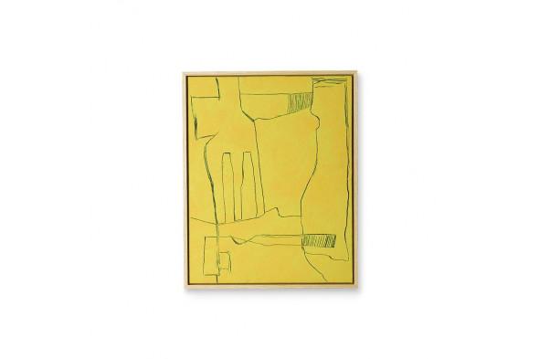 Billede af Framed Brutalism Painting Yellow hos BoShop.