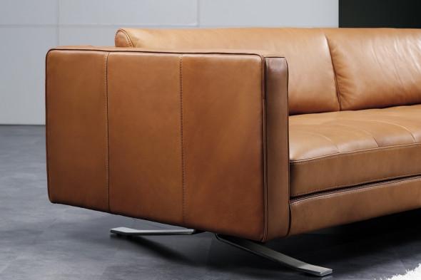Billede af Sorano lædersofa hos BoShop - Sofaer i Århus.