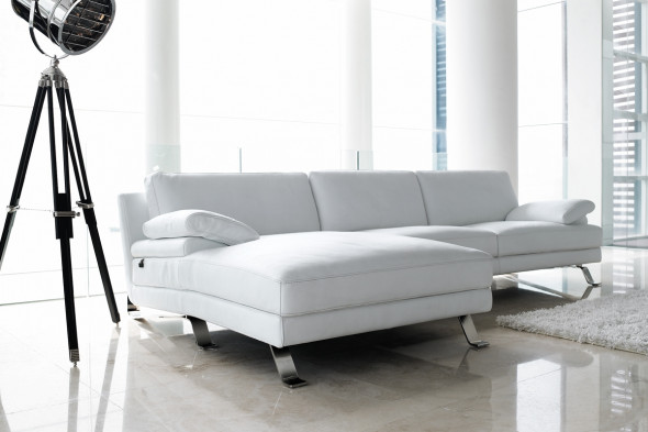 hvid chaiselong sofa læder
