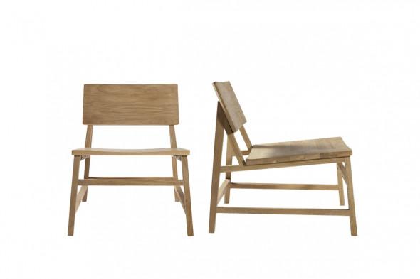 Billede af  N2 Eg loungestol i træ hos BoShop.