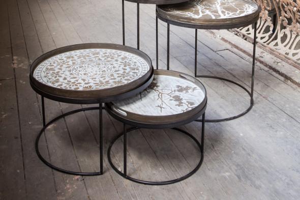 Billede af Round bakke sofaborde hos BoShop - Sofaborde i Århus.