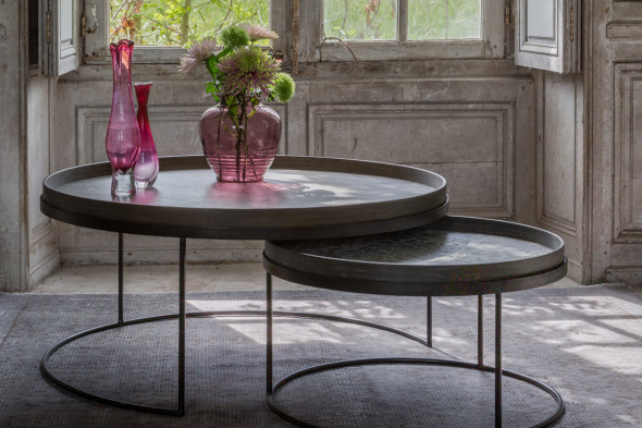 Round bakke sofaborde XL hos BoShop - Sofaborde i Århus.