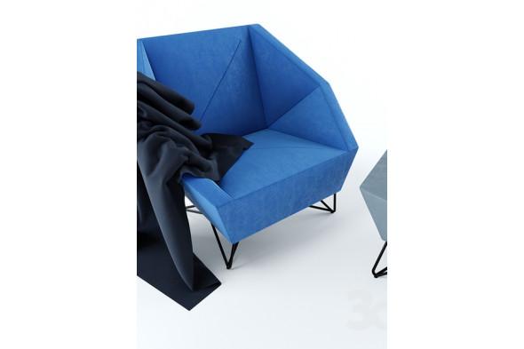 Billede af 3angle serien - Sofa, lænestol og puf i stof hos BoShop - Sofaer i Aarhus og Aalborg.