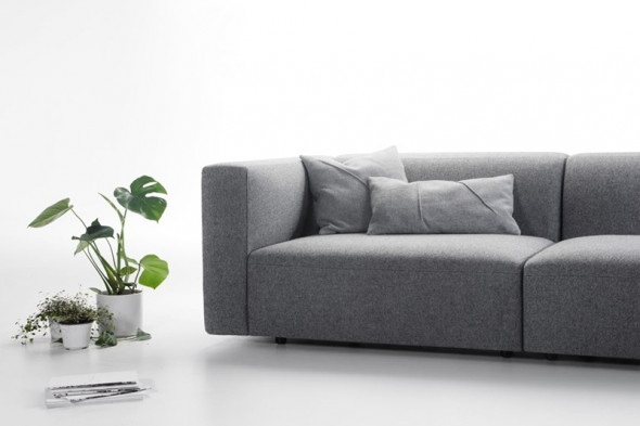 Billede af Match L stofsofa - Sofa med chaiselong hos BoShop - Sofaer i Århus.