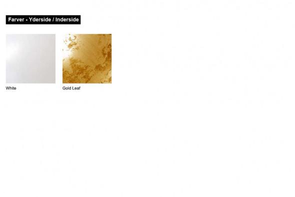 Billede af Larino White Gold Leaf loftslamper / pendeler hos BoShop - Lamper i Århus.