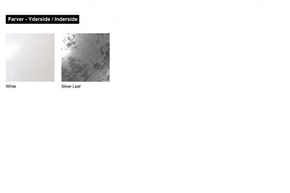 Billede af Larino White Silver Leaf (lampeserie) hos BoShop - Lamper i Aarhus og Aalborg.