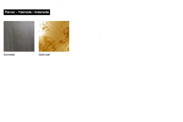 Billede af Larino Gunmetal Gold Leaf - lampeserie hos BoShop - Lamper i Århus.