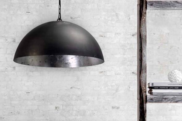 Billede af Larino Gunmetal Silver Leaf - lampeserie hos BoShop - Lamper i Århus.
