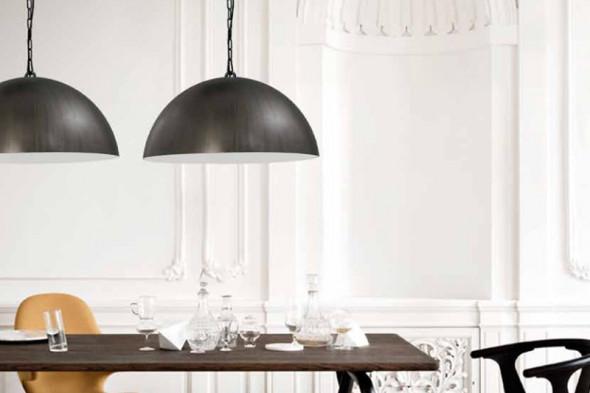 Billede af Larino Gunmetal White - lampeserie hos BoShop - Lamper i Århus.
