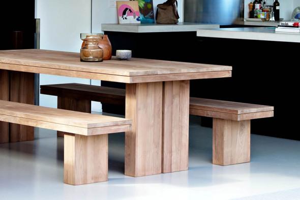 Ethnicraft   double teak spisebord i træ hos boshop