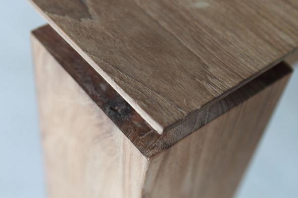 Ethnicraft   slice teak spisebord med udtræk i træ hos boshop ...