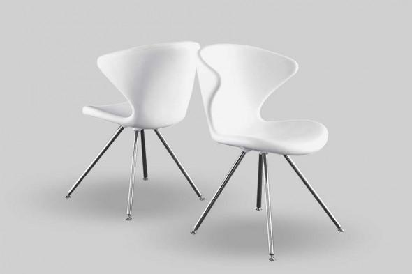 Billede af Concept metal Soft touch spisebordsstol hos BoShop.