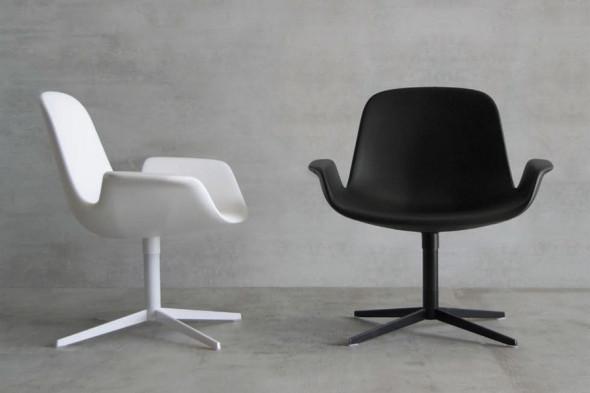 Billede af Step lounge Soft touch spisebordsstol hos BoShop.