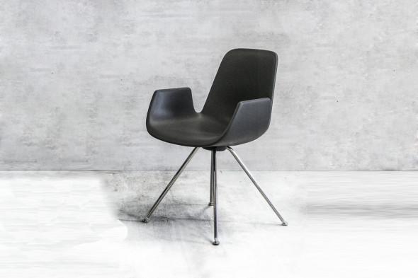 Billede af New Step metal Soft touch spisebordsstol hos BoShop - Spisebordsstole i Aarhus og Aalborg.