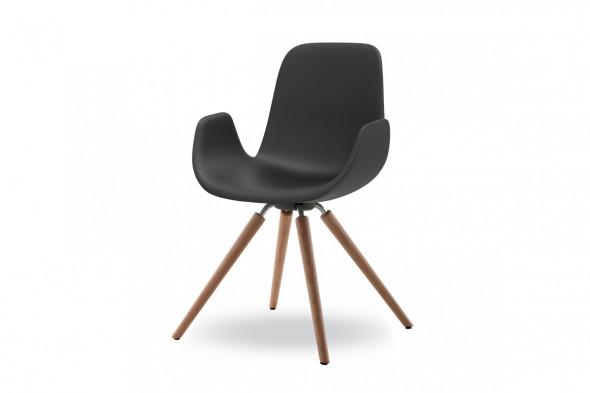 Billede af New Step wood Soft touch spisebordsstol hos BoShop - Spisebordsstole i Aarhus og Aalborg.