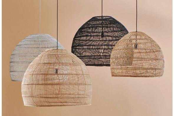 Billede af Wicker sort loftslampe / pendel hos BoShop - Lamper i Aarhus og Aalborg.