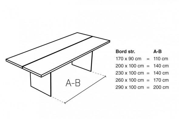 Billede af Elegance spisebord fra Wood by Kristensen hos BoShop.