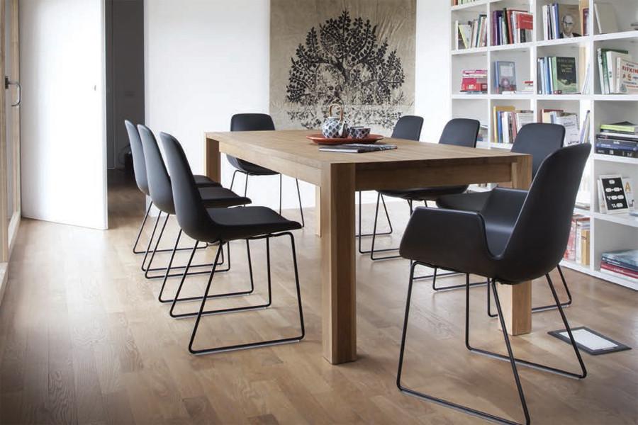 spisebordsstole med armlæn Tonon   New Step metal sledge *Soft touch* med armlæn  spisebordsstole med armlæn