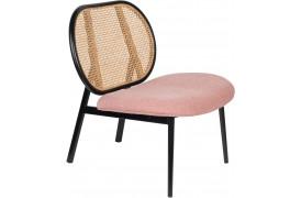 Spike lounge stol - Natural / pink