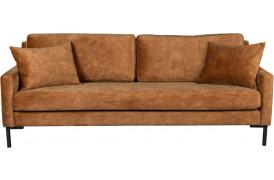 Houda velour sofa - Karamel