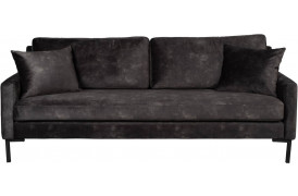 Houda velour sofa - Antracit