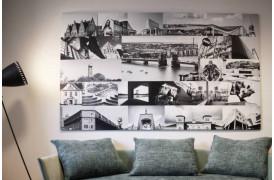 Aalborg collage på aluminium