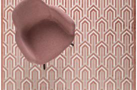 Her ses et billede af Beverly tæppet i pink fra Zuiver.