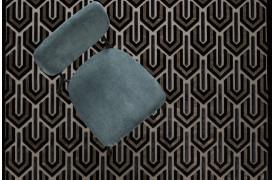 Her ses et billede af Beverly tæppet i sort fra Zuiver.
