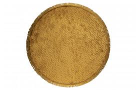 Tæppet er super blødt med et geometrisk mønster og frynser fra Bold Monkey.