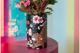 Håndmalet stilfuld og elegant vase fra Bold Monkey med tigermotiv.