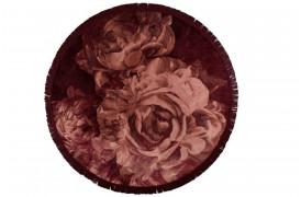 Stitchy Roses tæppet i rundt design fra Bold Monkey, tilføjer et elegant finish til rummet.