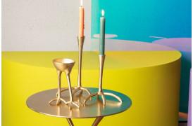 Her på billedet ses blandt andet den lille størrelse af The Golden Heron lysestage fra Bold Monkey.