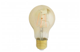 Flot og klassisk dæmpbar globepære med synlige glødetråde, som giver et varmt og hyggeligt lys.