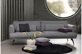 Forli stofsofa ses her som 3 personers sofa fra BoShop Collection.