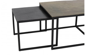 Kumalu sofabord fra BoShop Collection er et rustikt og simpelt sæt her farven Bronze.