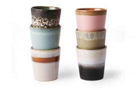 70'er keramikkrus - 6 stk.