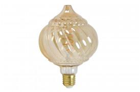 Smuk og dekorativ dæmpbar pære med synlige glødetråde, som giver et varmt lys.