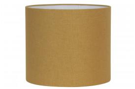 Gul rund lampeskærm fra BoShop Collection.