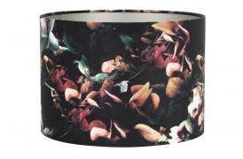 Velours er en elegant lampeskærm her i farven Sort med et flot print af hortensia blomster.
